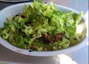Chipotle brown rice fajita bowl- My fave!