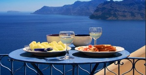 This is my mental picture when eating like the people who live along the Mediterranean Sea!