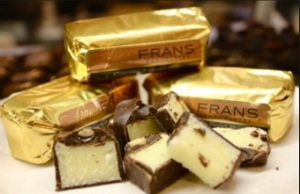 Fran's Coconut Gold Bars are a far more delicious version of an Almond Joy!