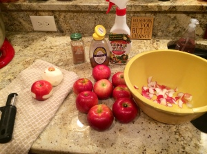 My ingredients are gathered. Let the peeling begin!