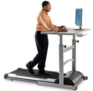 Cool treadmill desk!