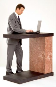 This is what I'm doing right now as I write my blog- I'm standing!