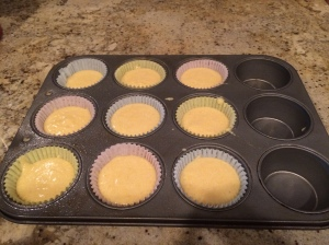 Corn muffins ready for the oven!