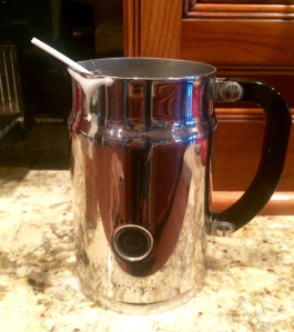 I use an aeroccino or as I call it, a milk frother.