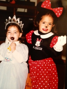 Danzy and Jacsy many years ago! I think Danz has a Blow Pop!