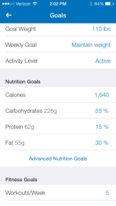 Another way My Fitness Pal breaks down what you're eating into useful information.