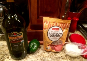 Everything is ready to make Quinoa!