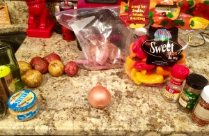 Ingredients gathered and ready to go!