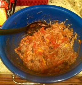 Pork with tomato sauce added!