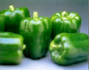 Green bell peppers, not as much C as the reds but they still have tons!