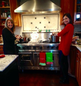 Cooking at my sister's house over the weekend!