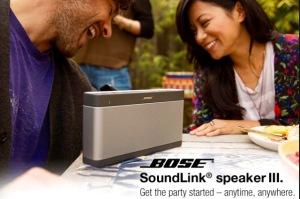 One of my favorite things- my Bose Bluetooth speaker!