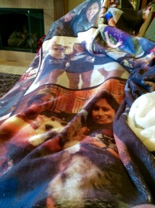 A soft blanket made even better by my children's faces on it!