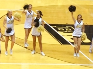 Watching my girls cheer on my Boilers- happiness!
