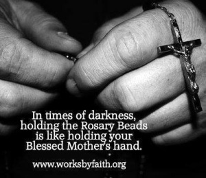 That perfectly sums up my feelings about praying the rosary!