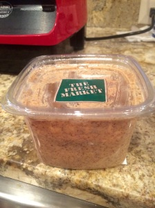 4. 1-2 tablespoons of NATURAL ground flax, chia, hemp or nut butter (not peanut). I used freshly ground almond butter.