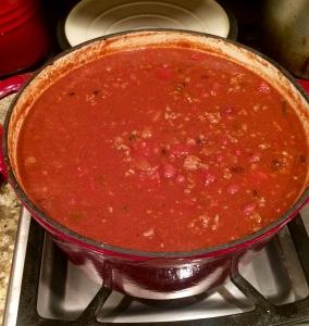 My yummy (and healthy chili)!