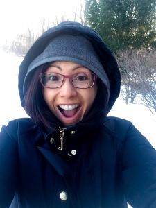 Brutally cold but I'm still smiling!