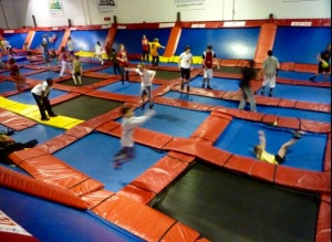 Sky Zone is active family fun!