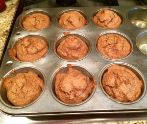 Makes 9 muffins but they don't last long at my house!