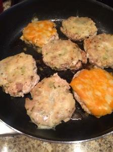 My juicy, yummy turkey burgers!