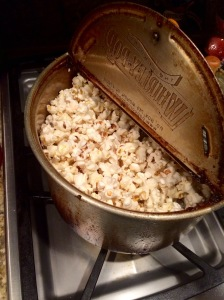 One of my favorite sights, sounds, smells- popcorn popping!