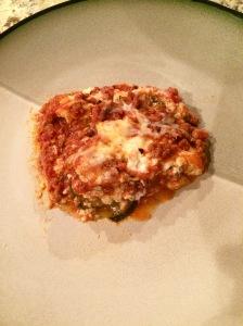 Beautiful piece of lasagna!